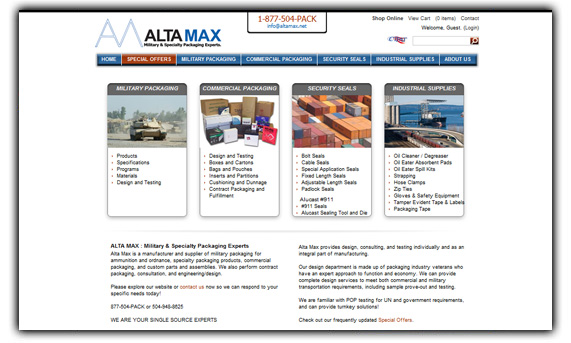 Alta Max - Military & Specialty Packaging Experts